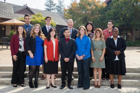 Group photo of the 2016 Rogers Scholars with Colonel John Rogers and Janet Rogers.