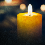 lit candle