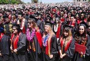 Graduates at Commencement