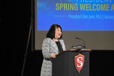 Ellen at the Spring 2018 Welcome Address