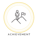 Achievement pillar of success icon