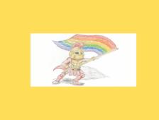 LGBTQ+ warrior logo