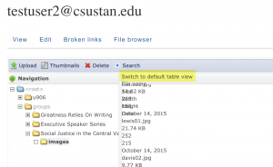 """screen grab of """"switch to default view"""" link"""