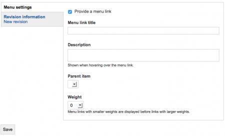 menu tool example