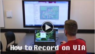 How to record with VIA video link