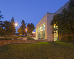 Snider Recital Hall at night