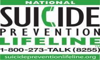 National Suicide Prevention Lifeline. 1-800-273-TALK (8255)