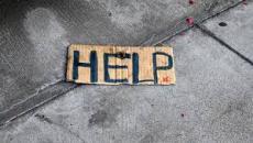 Homeless help sign