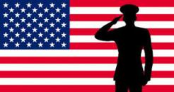 Flag with veteran