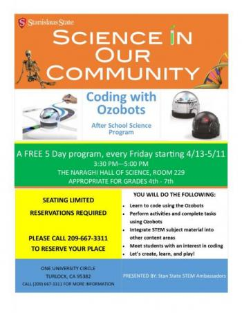Science Saturday; coding with robots