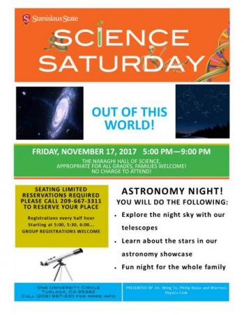 Science Saturday; Out of this world!