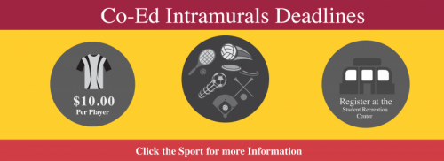 Co Ed Intramural Deadline