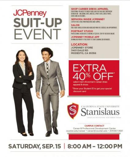 JCPenney Suit-Up for Success Event