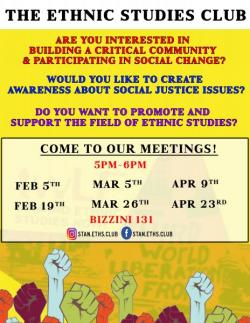 Ethnic Studies Club Flyer
