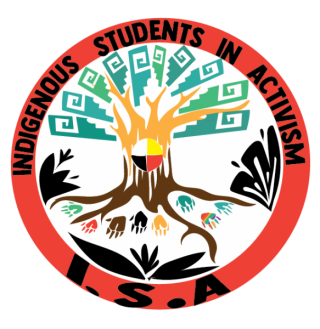 Indigenous Students in Activism with a circle and a tree inside