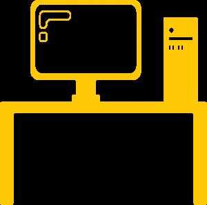 yellow desk icon