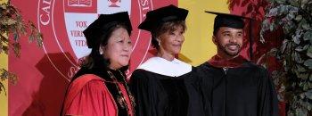 President Ellen Junn, Bertha Fitzpatrick and Ryan Fitzpatrick