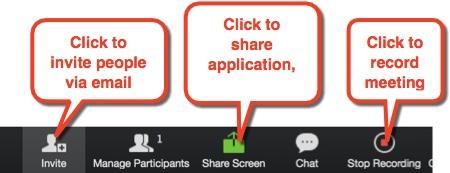 Zoom toolbar icons