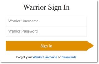 Warrior Sign In screen
