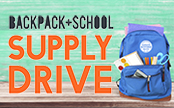 Backpack and School Supply Drive Flyer