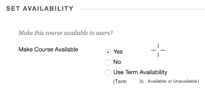 Set Availability