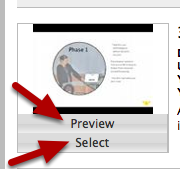 Preview and Select
