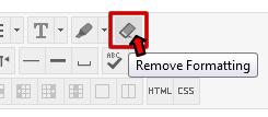 Remove Formatting Tool