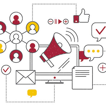 Communications illustration.