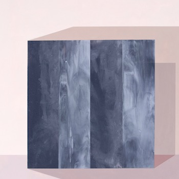 Painting of an abstract, geometric form