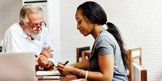 Student receiving advising