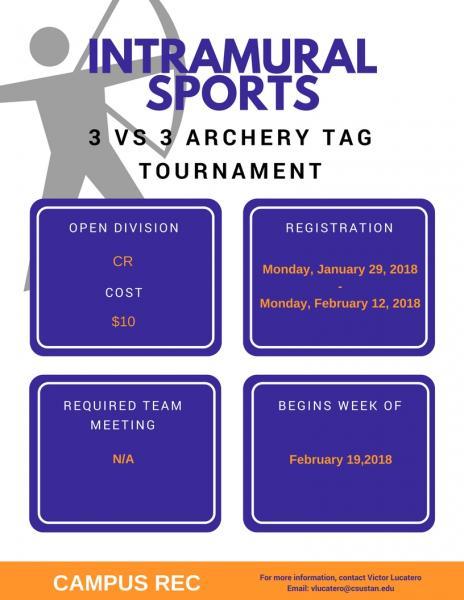 intramunal sports 3 vs 3 archer tag tournament