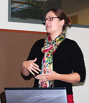 Lauren McFarlin was one of several students to present her work at the CSU Stanislaus Graduate Student Research Colloquium.