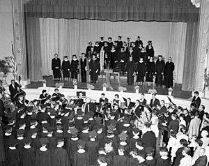 Early CSU Stanislaus commencement ceremonies were held in the Turlock High School auditorium.
