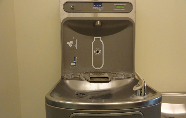modern drinking fountains