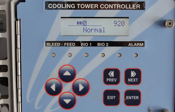 meter at cooling towers